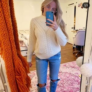 CABLE KNIT SWEATER (NOT ITCHY) 🤍